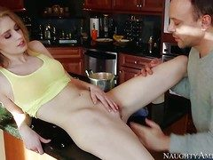 Allie James is a pale skinned leggy teen cookie that
