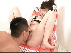 Victorian Japanese pussy squirts in hot video