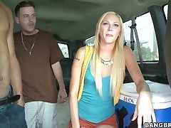 Tara Lee gets stuffed in will not hear of twat by hot dude