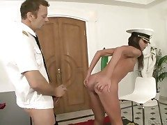 Rocco Siffredi makes Nataly Gold scream with the addition of shout