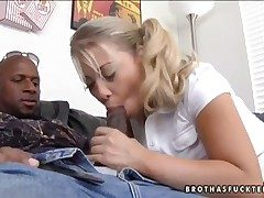 Blonde Brooke Scott with majuscule breasts jocosity
