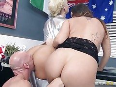 Johnny Sins displays ultra-cute sex tricks to With giant