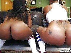 Spicy J and Nina Rotti are the big bootie duo!