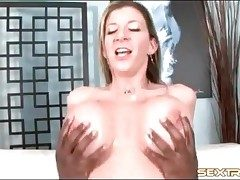 Milf adult movie star Sara Stone rides BBC with cunt